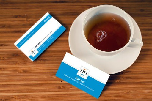 Business cards at networking events